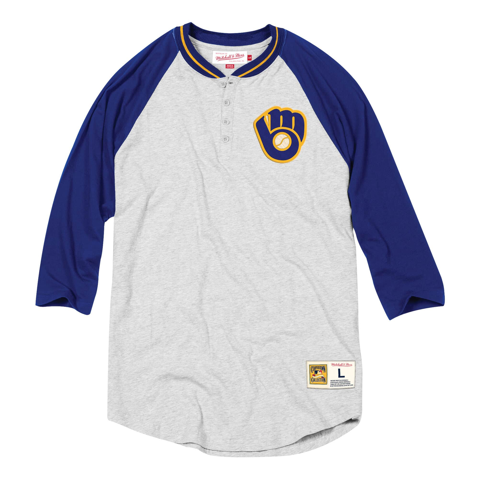 4-Button Henley Milwaukee Brewers