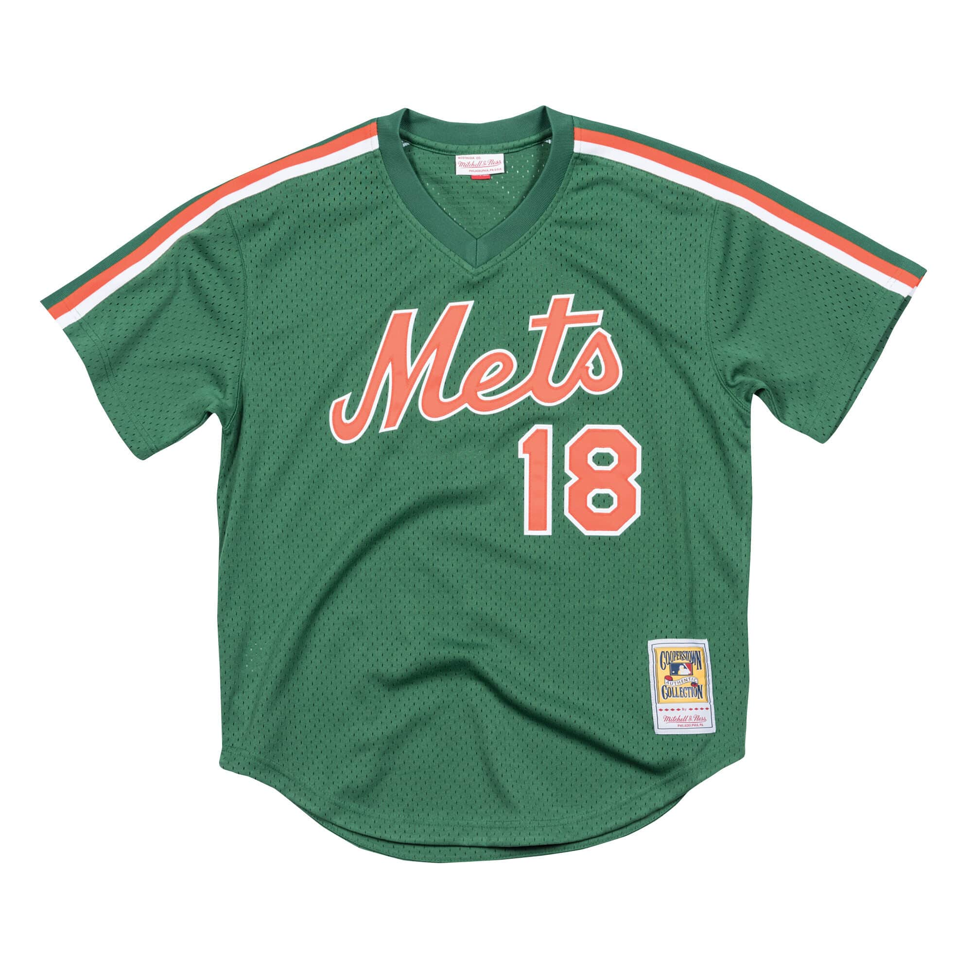 Authentic Mesh BP Jersey New York Mets 1988 Darryl Strawberry