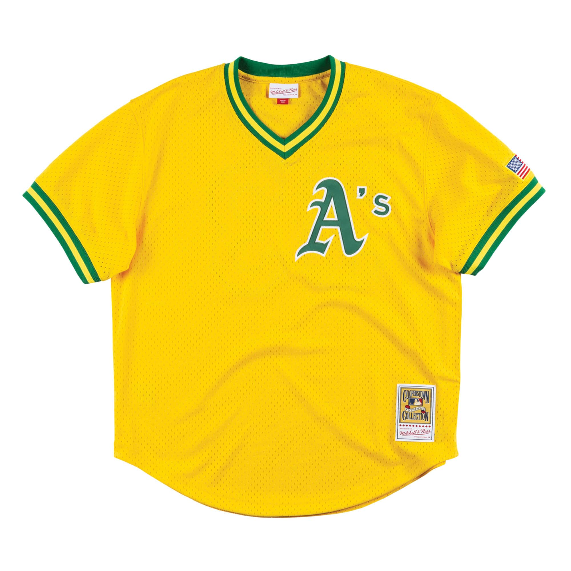 Authentic Mesh BP Jersey Oakland Athletics 1990 Jose Canseco