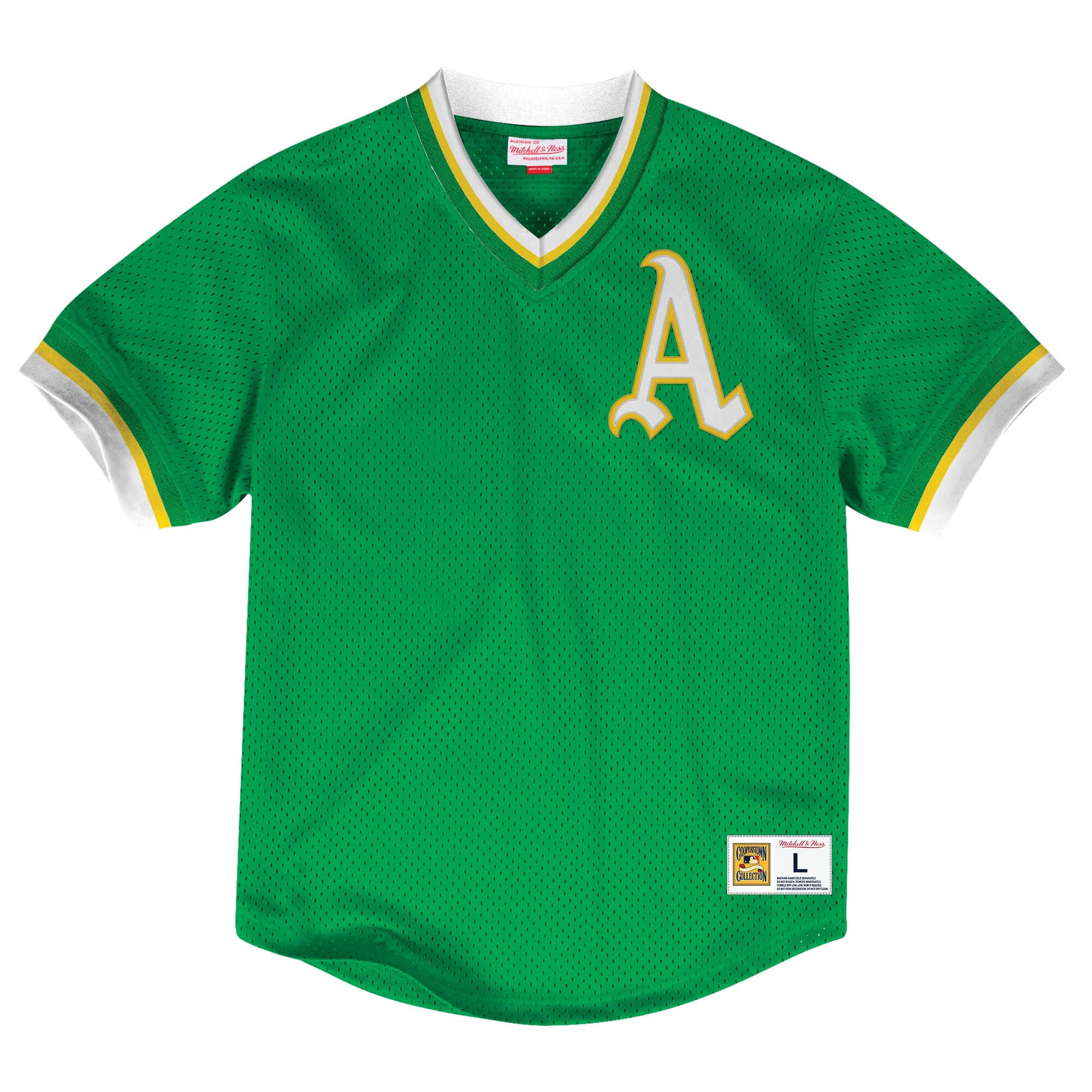 Mesh V-Neck Oakland Athletics