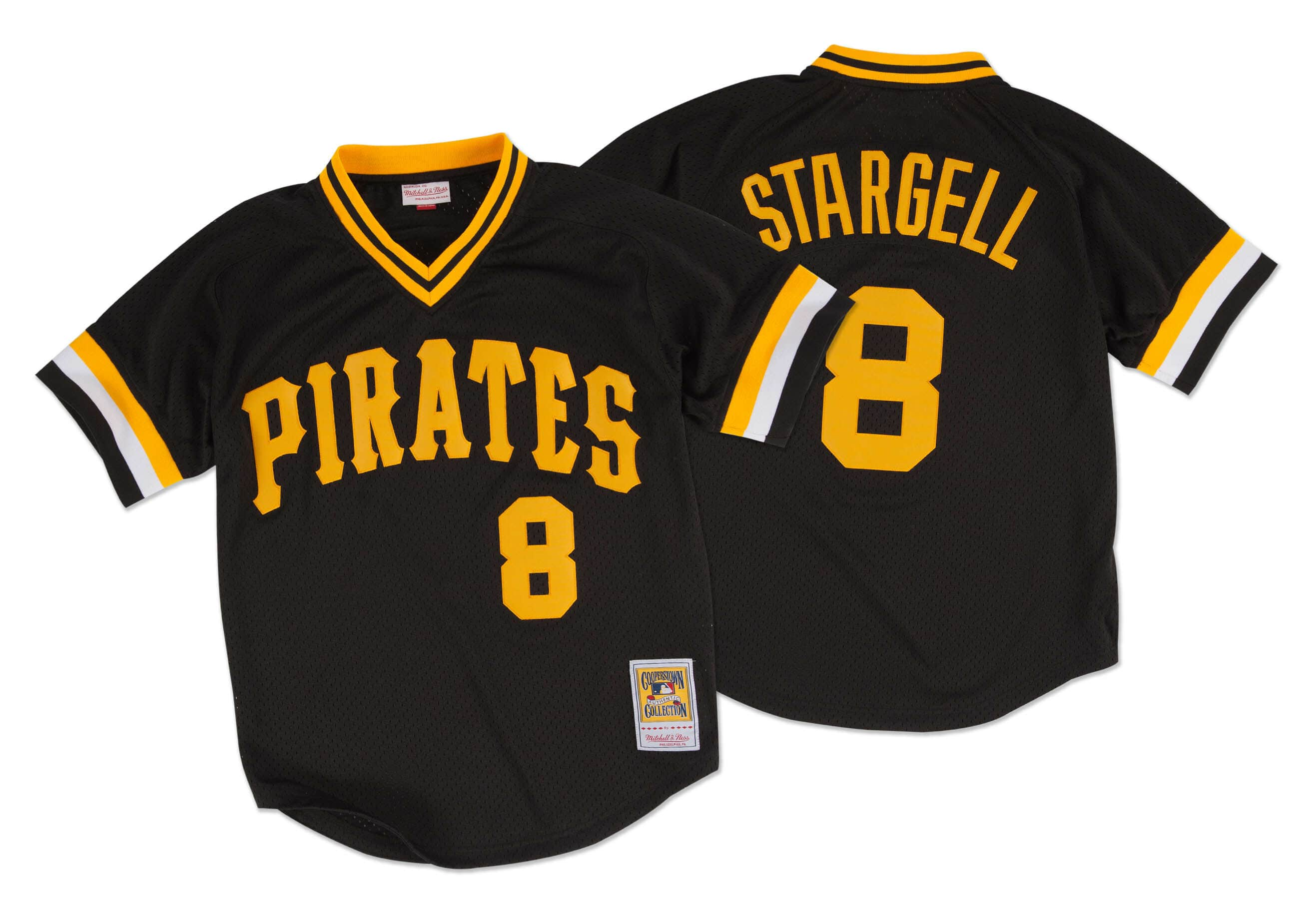 Willie Stargell 1982 Authentic Mesh BP Jersey Pittsburgh Pirates