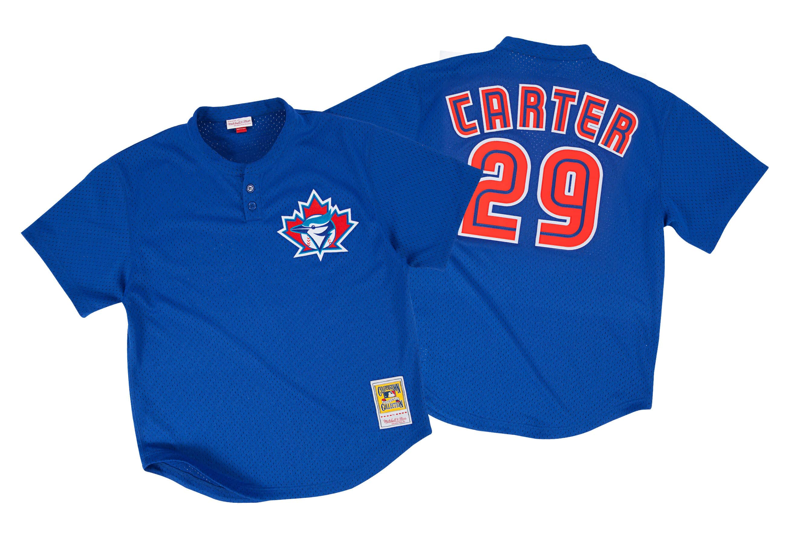 Joe Carter 1997 Authentic Mesh BP Jersey Toronto Blue Jays