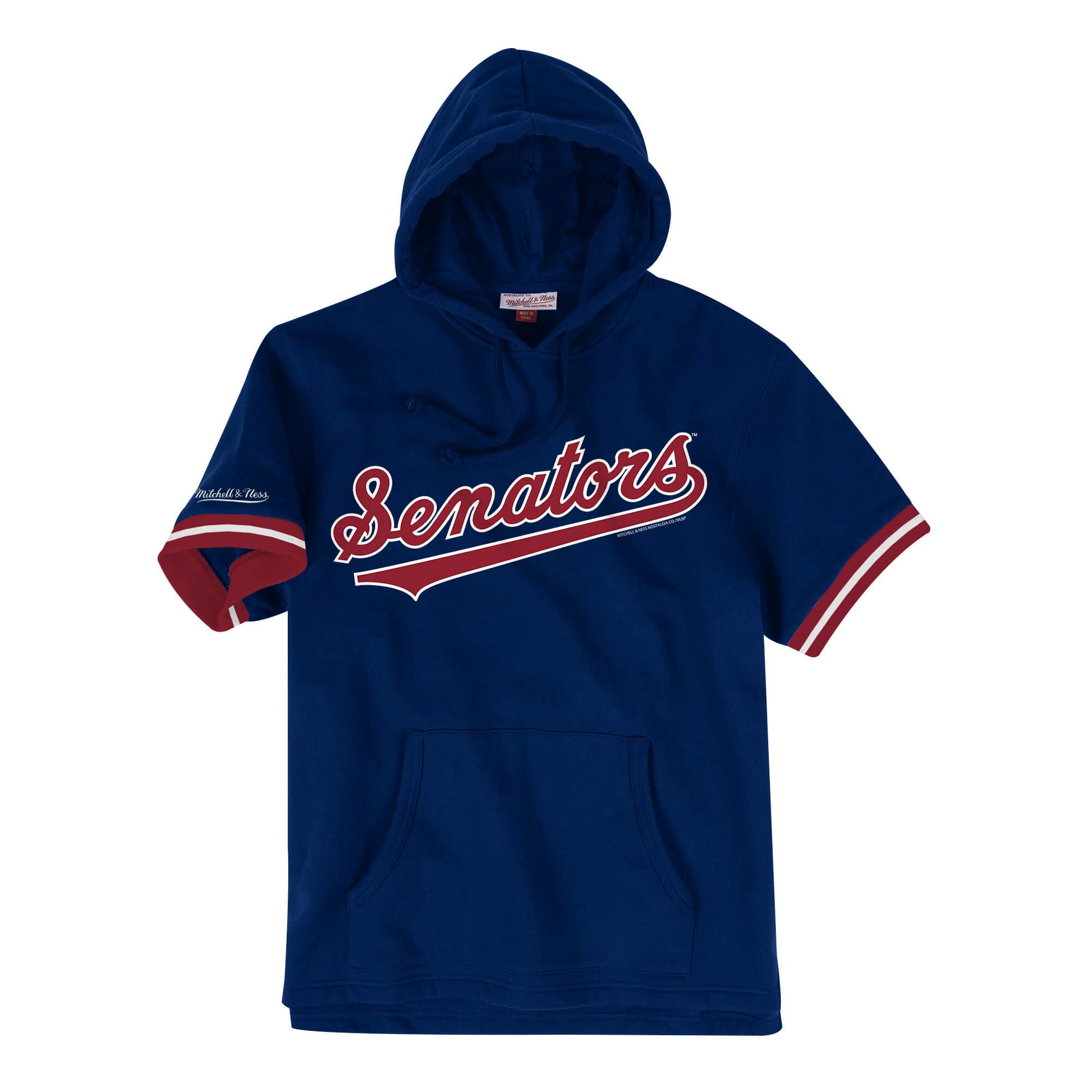 French Terry Short Sleeve Hoody Washington Senators