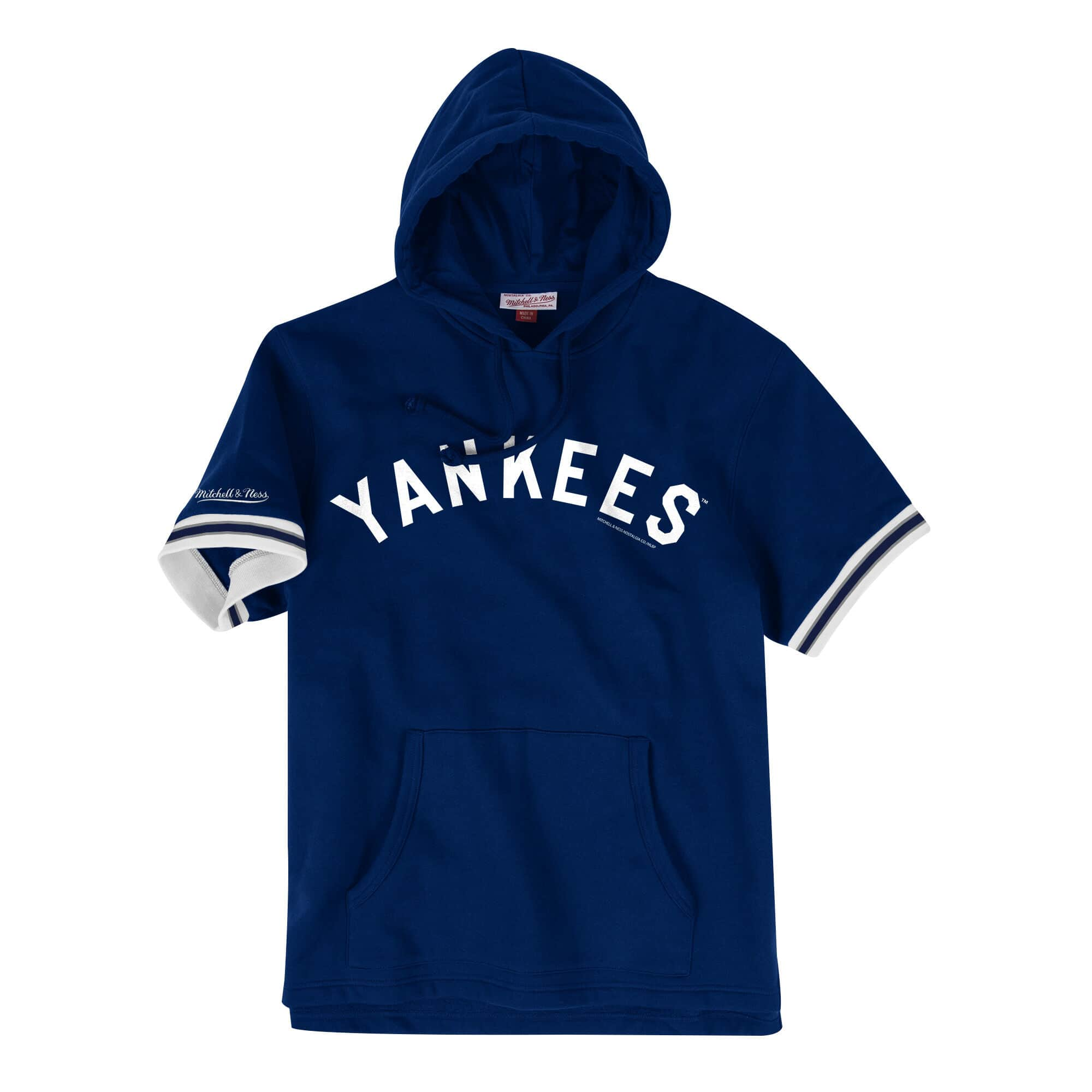 French Terry Short Sleeve Hoody New York Yankees