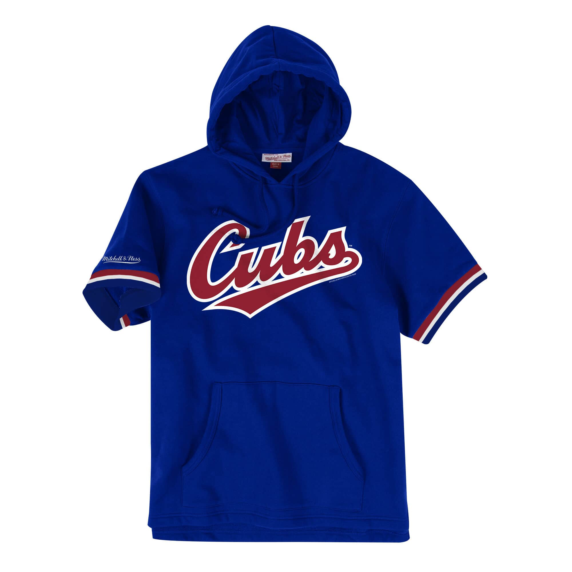 French Terry Short Sleeve Hoody Chicago Cubs