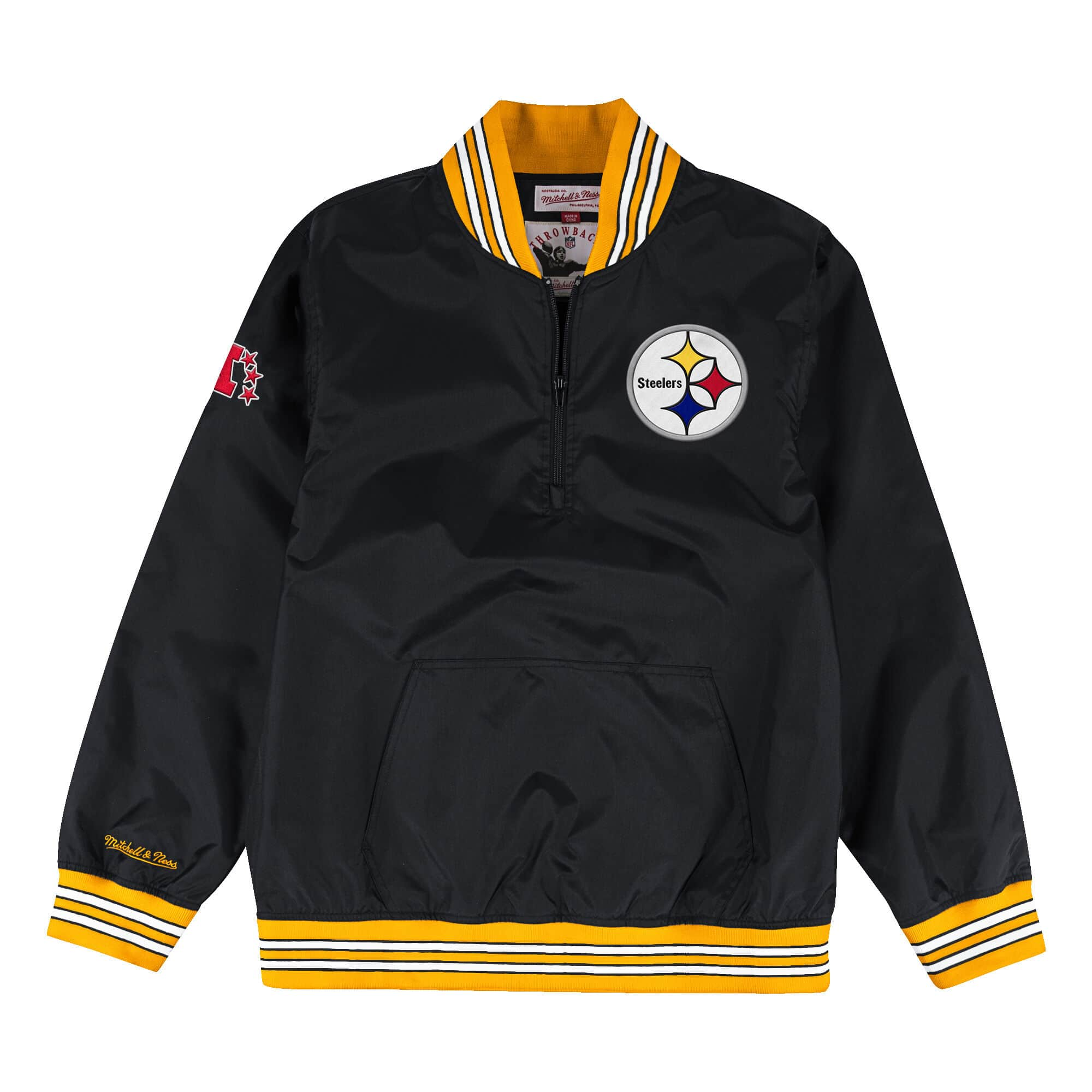 1/4 Zip Nylon Pullover Pittsburgh Steelers