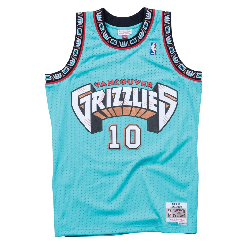 Mike Bibby Memphis Grizzlies Mitchell and Ness Men's Teal Throwback Jesey