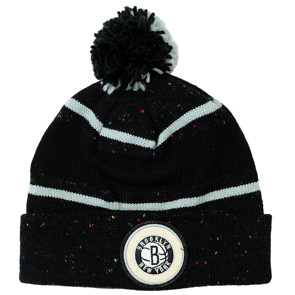 Brooklyn Nets Mitchell & Ness Current Speckled Cuff Knit Hat