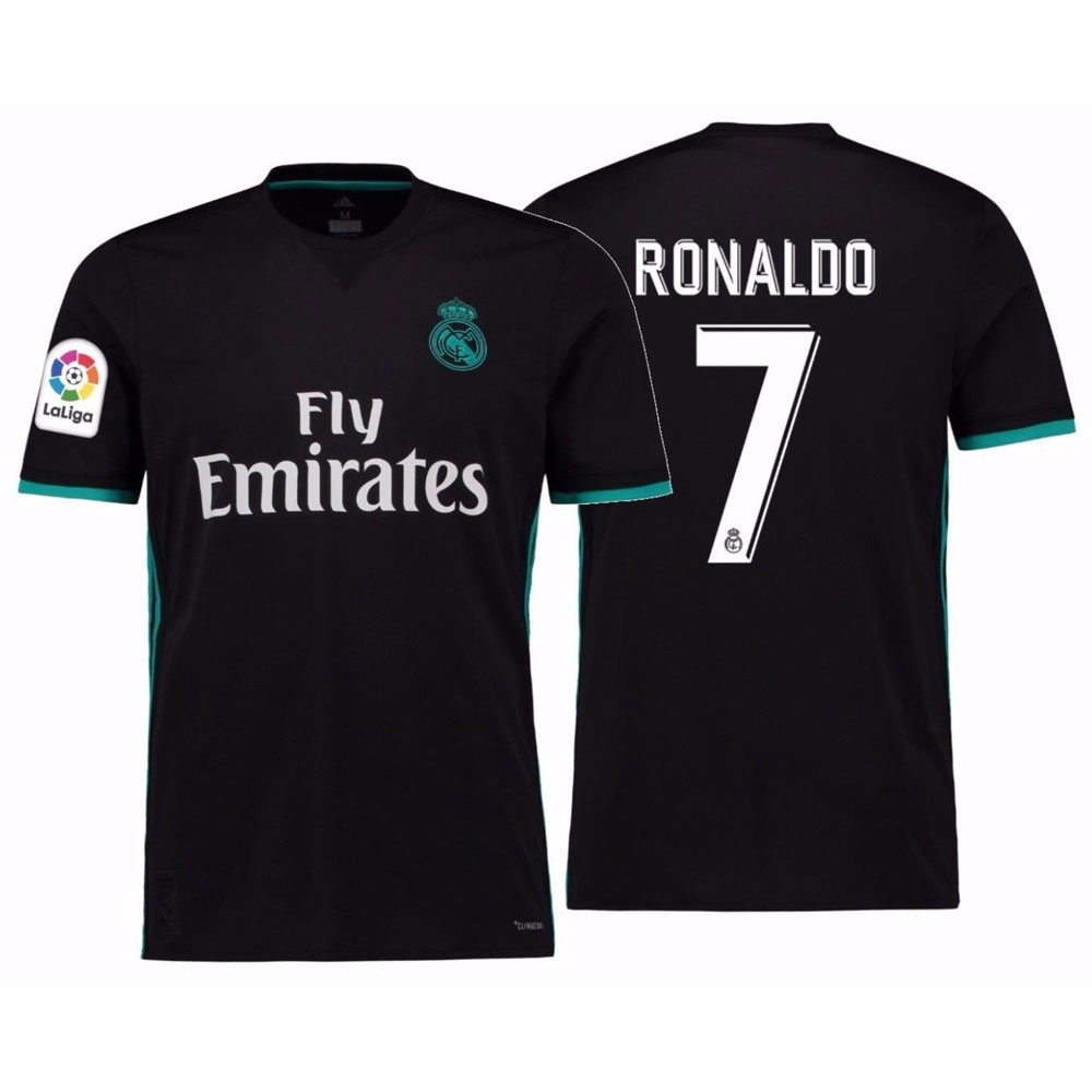FCM 2018/2019 New #7 Cristiano Ronaldo Kids Third Soccer Jersey & Shorts Youth Sizes, large